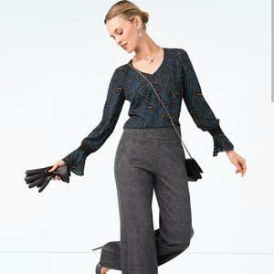 Cabi 2019 Fall Collection Shadow Leaf Blouse